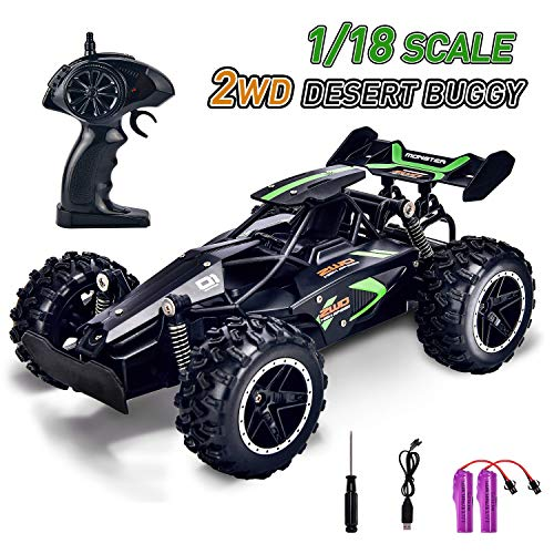 Kids Remote Control Car for Boys RC Cars Hobby Remote Control Truck Fast Radio Controlled Car with 2 Rechargeable Battery RC Racing Car Toys for Boys Age 5 6 7 8 9 Year Old Gifts - Black (The Best Radio Controlled Cars)