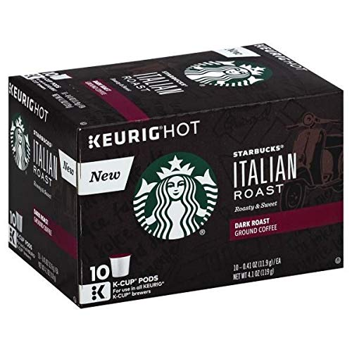 Expect More Starbucks Italian Dark Roast K-Cup Pods Ground Coffee 10 x 0.41 oz pack of 6