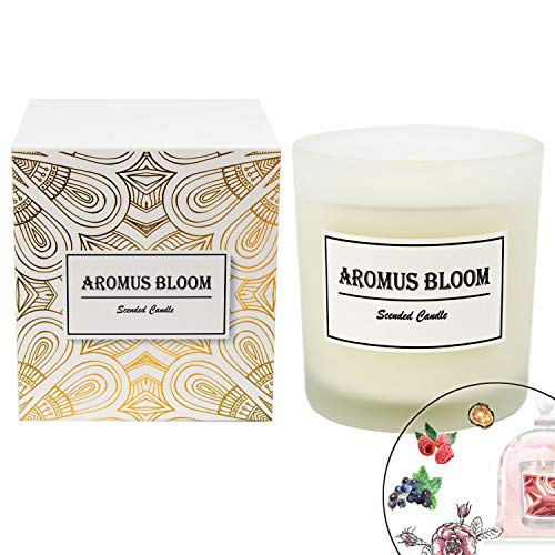 The Lily Valley Of Bouquet (AromusBloom Scented Candle Gift Natural Essential Oils, 100% Eco-Friendly Soy Wax Aromatherapy Candle, Gift Candles Women, Rose The Moment)