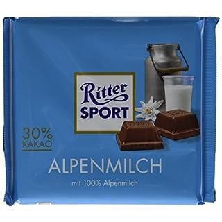 Ritter Sport, Alpine Milk Chocolate, 3.5-Ounce Bars (Pack of 12)