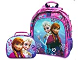 Disney Frozen Girls Backpack and Lunch Box Set - Purple