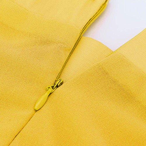 Maxi Haute Mousseline De Plisse Femmes Taille Jupe en Sauvage Flared Robe De Skater Plisse Taille Jupe Longue Stretch Soie Jaune Jupe Rawdah Haute Taille Mousseline en Soie nxOqU6zfRw