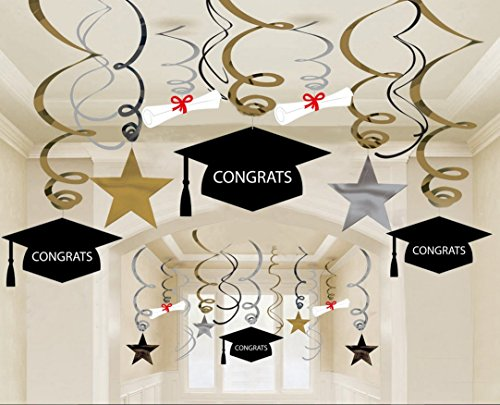Graduation Party Supplies 2018 Grad Hanging Decorations - - Import ...