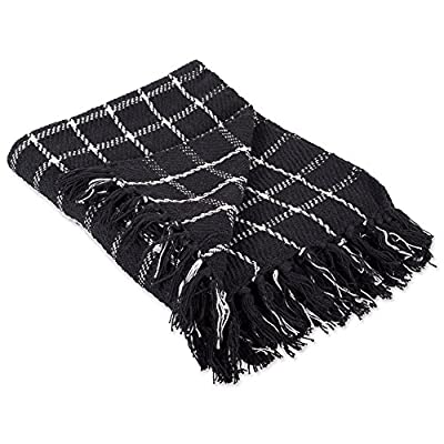 DII 100% Cotton Checked Throw for Indoor/Outdoor Use Camping Bbq's Beaches Everyday Blanket -  - blankets-throws, bedroom-sheets-comforters, bedroom - 51ata6bsxLL. SS400  -