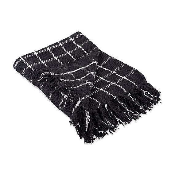 DII 100% Cotton Checked Throw for Indoor/Outdoor Use Camping Bbq's Beaches Everyday Blanket -  - blankets-throws, bedroom-sheets-comforters, bedroom - 51ata6bsxLL. SS570  -