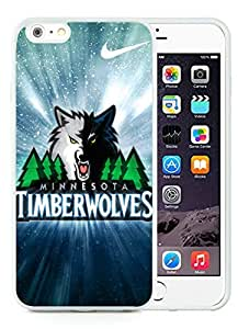 New Custom Design Cover Case For iPhone 6 Plus 5.5 Inch Minnesota Timberwolves 2 White Phone Case