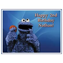 "Single Source Party Supplies - Cookie Monster Cake Edible Icing Image #1 - 8.0"" x - 10.5"" Rectangular"