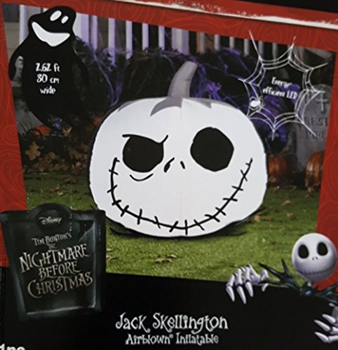 Nightmare Before Christmas Jack Skellington Pumpkin Airblown Inflatable Halloween Decoration]()