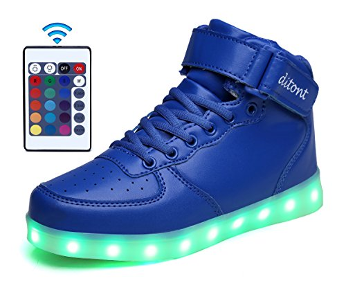 ditont-led-light-up-shoes-remote-control-16-colors-flashing-sneakers-for-kids-boys-girlsdt98blue38
