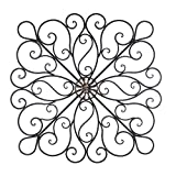 Wall Decor Metal, Iron Scrollwork Art Metal Wall Decor for Bedroom...