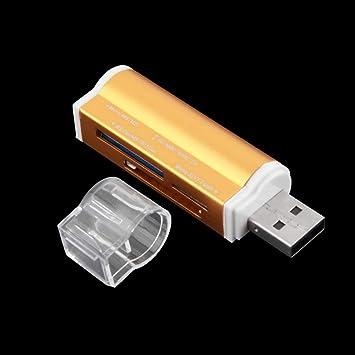 Heaviesk Tamaño portátil USB 2.0 Todo en 1 Ranuras para ...