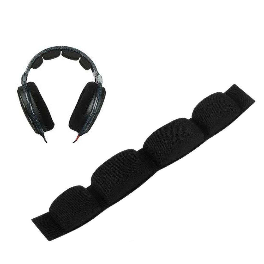 Yoozalo 交換用ヘッドバンドクッションパッド - Sennheiser HD650 HD600 HD580 HD545 ヘッドフォン用 (ブラック、ベロア) B07NNLZY7K