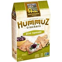 Mediterranean Snack Hummuz Crispz Snack, Olive Oil Tapenade, 4 Ounce