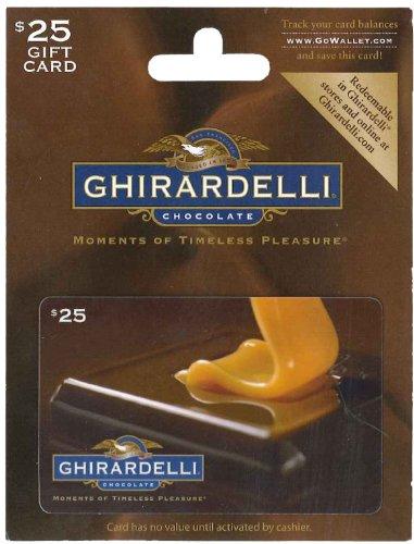 Ghirardelli Chocolate Gift Card $25