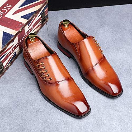 Fashion Business Dress Men Shoes New Classic Leather Men'S Suits Shoes Fashion Slip On Dress Shoes Men Oxfords (Color : RED, Shoe Size : 43 EU)