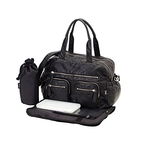 OiOi Faux Leather Carry All Diaper Bag -