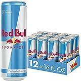 Red Bull Energy Drink Sugar Free 12 Pack of 16 Fl Oz, Sugarfree