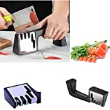 SUJING Knife Sharpener, Professional Kitchen Sharpener 4 in 1 Knife and Scissor Sharpening Device