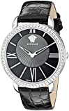 Versace Women's M6Q99D008 S009 Krios Stainless Steel Watch With Black Leather Band