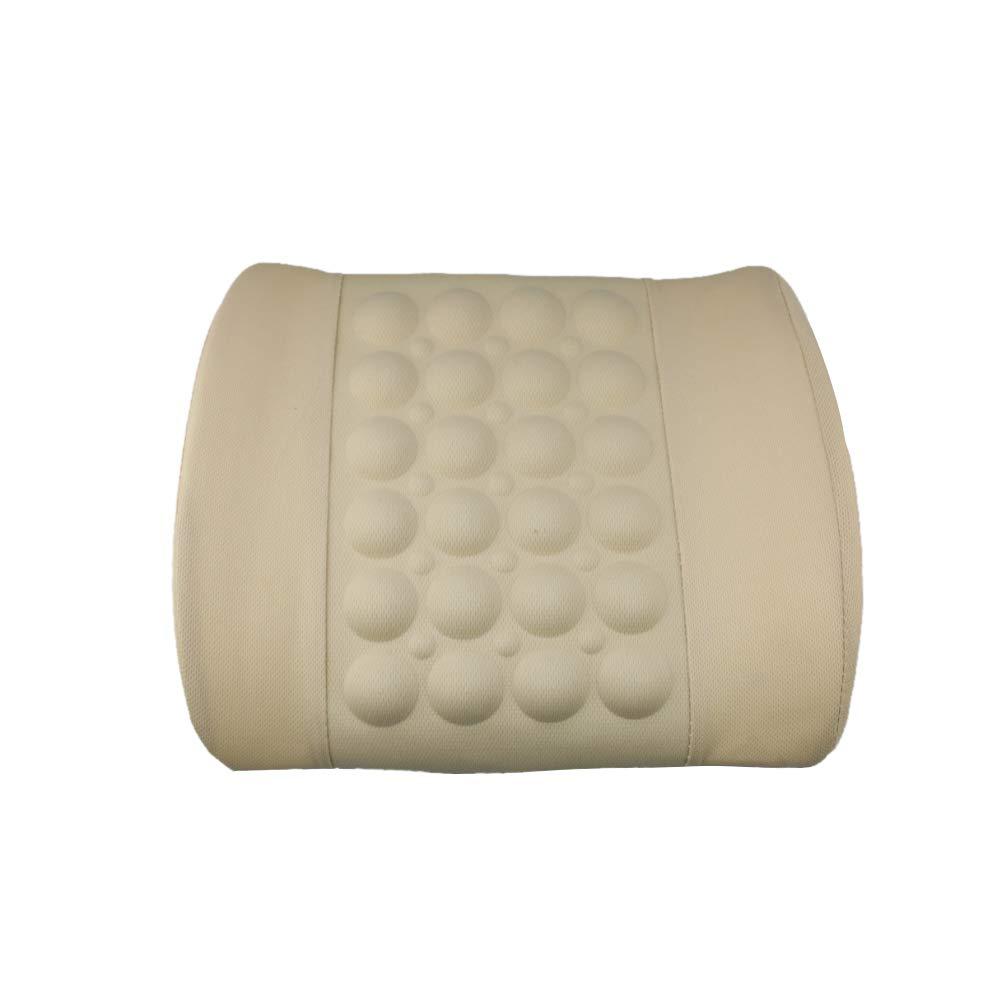 SuBoZhuLiuJ Electric Waist Pillow Car Back Mat Vehicle Massage Seat Support Lumbar Cushion - Black