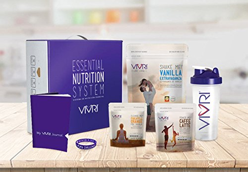 Vivri Essential Nutrition System: Vanilla Extravaganza Shake - Power Me! Caffe Latte - Cleanse Me! Pineapple Orange - 10 Day Challenge