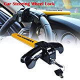 AUTOLOVER Car Lock,Universal T Style Anti-Theft Car Auto Security Rotary Steering Lock Car Alarm Anti-theft Device Extra Secure(1 PCS)