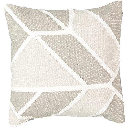 Beautyrest 16424018X018LTG Social Call 18-Inch by 18-Inch Decorative Pillow, Light Grey [並行輸入品] B07RCF5XQW
