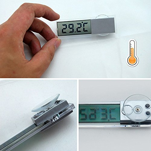 (UEB New Osculum Type LCD Vehicle-mounted Digital Thermometer Celsius Fahrenheit)