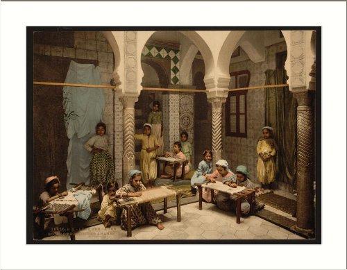 Luce Ben Aben School of Arab Embroidery Algiers Algeria, c. 1890s, (L) Librar...