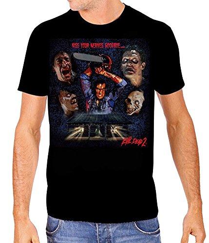 Evil Dead 2 Collage Mens Black T-Shirt (XX-Large)