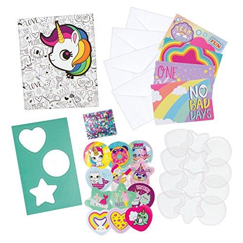 Fashion Angels Sequin Shaker Sticker Design Kit W/Journal (35 Piece), Multicolor - 35 Piece Sticker Set