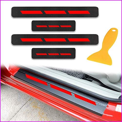 Real Carbon Fiber Car Side Door Edge Protection Guard Trim Sticker Fit For Acura