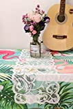 "Polyester Lace Table Runner Overlay Lace Tablecloth Gorgeous Spring Summer Decoration Wedding Party Decoration Baby & Bridal Shower Decor13x72""Perfect for Dinner Parties, Christmas, Holidays,White"