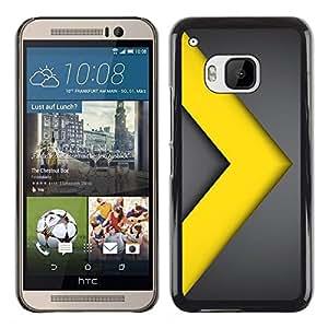 TECHCASE**Cubierta de la caja de protección la piel dura para el ** HTC One M9 ** Chevron Go Yellow Gold Metal Line