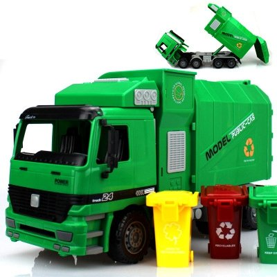 Sanitation Truck Children Toys Kids Gifts Inertia Engineering Car Trash Large Garbage For Gift