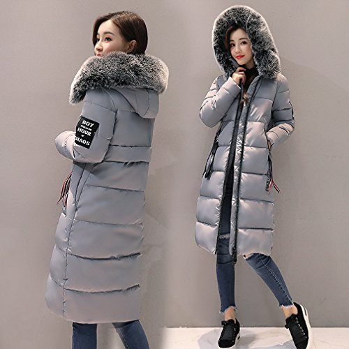 Thick Bigood Jacket Coat Slimming Grey Winter Long Ladies Parka Women Down qrfrtR