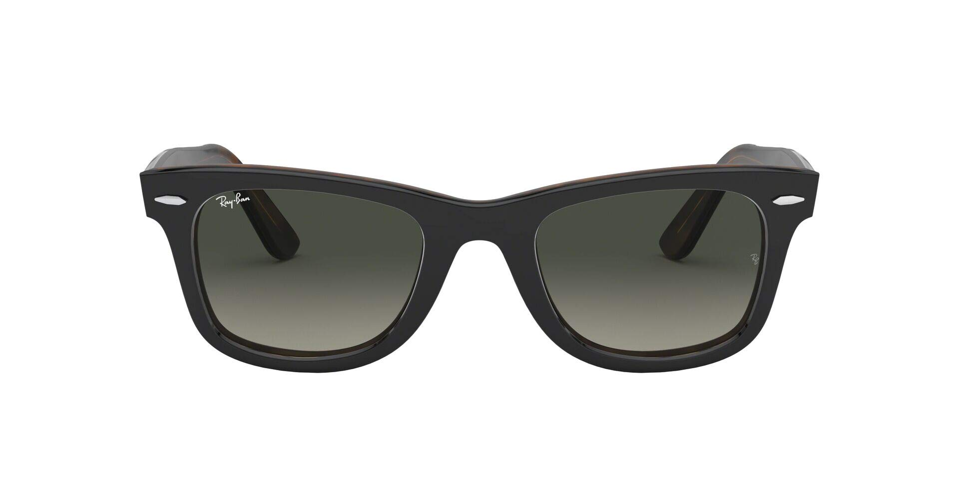 Ray-Ban RB2140 Wayfarer Sunglasses, Tortoise on Grey/Grey Gradient, 50 mm by RAY-BAN