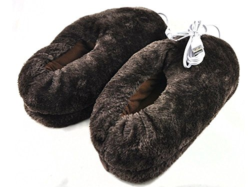 lifemall-unisex-furry-heated-warm-slippers-with-usb-port-electric-heating-cotton-shoes