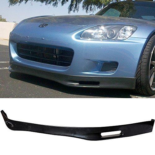 Front Bumper Lip Fits 2000-2003 HONDA S2000 | Spoon Style PU Black Front Lip Spoiler Splitter by IKON MOTORSPORTS | 2001 2002