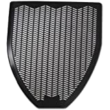 """Impact Non-Skid Disposable Urinal Floor Mat, 17-1/2"""" Width x 20-3/8"""" Length, Black (Pack of 6)"""