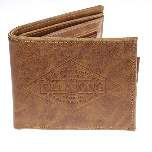 - 2 Billabong Bi-fold Wallets with CC, Note and Coin Pockets ~ Bronson tan