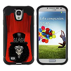 Be-Star único patrón Impacto Shock - Absorción y Anti-Arañazos Funda Carcasa Case Bumper Para SAMSUNG Galaxy S4 IV / i9500 / i9515 / i9505G / SGH-i337 ( Rock Roll Guitar Star Player Top Hat )