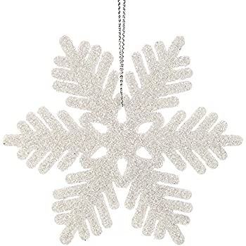 Amazon Plastic Snowflake Ornaments Tiny 24pcs Sparkling Ipegtop 24 Pcs