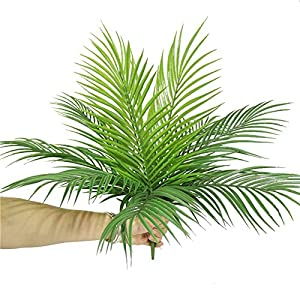 Artificial Plants Greenery Boston Fern Plants Shrubs Tropical Palm Leaf for Indoor Outdoor Wedding Deco 10