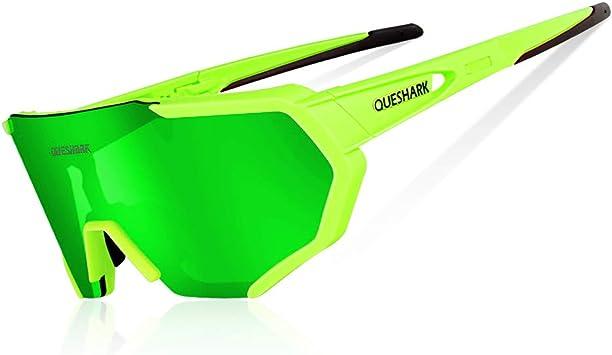 Queshark Gafas De Sol Polarizadas para Ciclismo con 3 Lentes ...