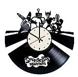 SpongeBob Superhero Vinyl Wall Clock Unique Gifts Living Room Home Decor