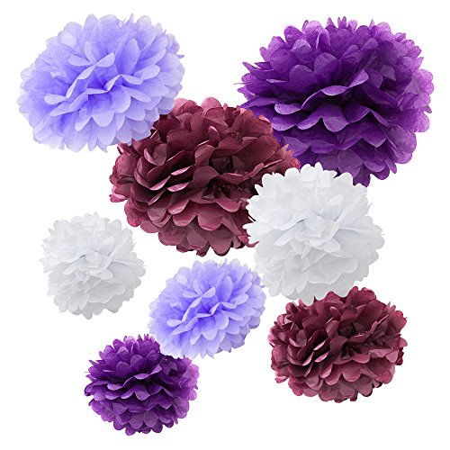 WYZworks Set of 8 (Assorted Purple Color Pack) 8