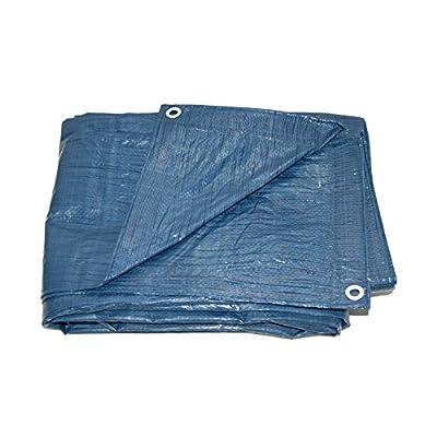 All Season Blue Poly Tarp - 5.1 mil - 8x8 Weave (12X24)