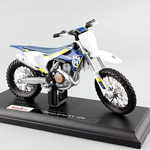 Diecasts & Toy Vehicles - Scale Mini KTM Husqvarna FC 450 Motorcycle Enduro Racing Diecast Modeling Motocross Replica Metal auto car Model Kids Toys - by SINAM - 1 - Price Moto E