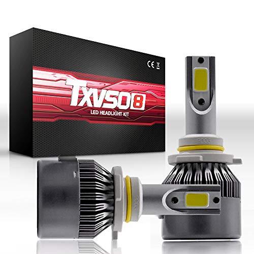 9005(HB3) LED Headlights Bulbs 26000LM 110W Conversion Kit, Sanearde T2 Series Super Bright COB Chip Hi/Lo Beam Light Bulb-6000K White (2 Pack)